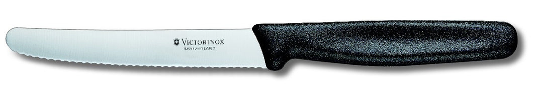 Victorinox Steak & Tomatoe Knife 11cm Serrated Edge - Rnd Tip Black - ZOES Kitchen
