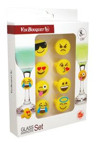 Vin Boquet Smily Glass Markers - Silicone Set8 - ZoeKitchen