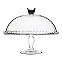 Pasabahce Patisserie Cake Stand With Dome 32cm - ZoeKitchen