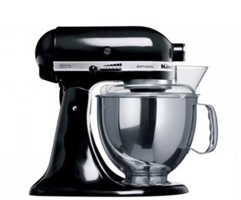 Kitchen Aid Stand Mixer Ksm150 Onyx Black Mixer - ZoeKitchen