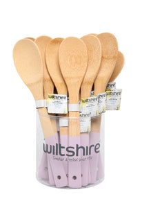 WILTSHIRE IMPULSE BAMBOO SOLID SPOON PINK - CDU18