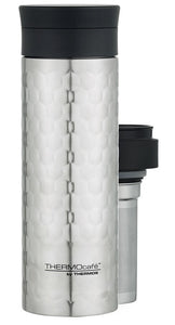 THERMOS THERMOCAFE D/WALL CUP W/TEA INFUSER 450ML - STAINLESS STEEL