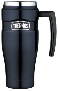 THERMOS 470ML S/STEEL KING VACUUM INS LEAKPROOF TRAVEL MUG