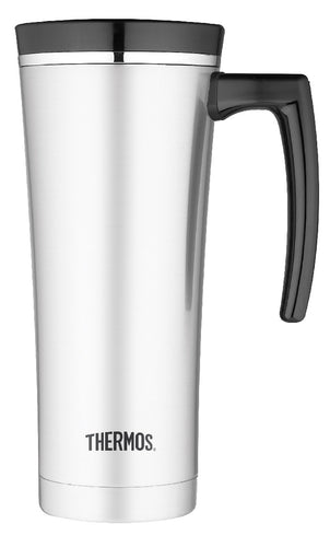 THERMOS SIPP S/S TRAVEL MUG BLK RIM