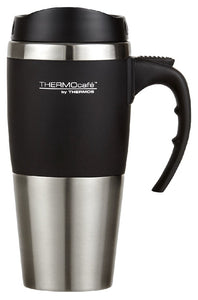 THERMOS 450ML S/STEEL TRAVEL MUG BLACK