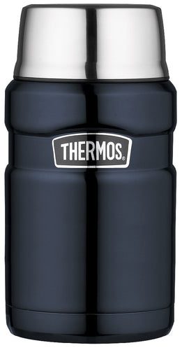 THERMOS KING S/S FOOD JAR 710ML MID BLUE