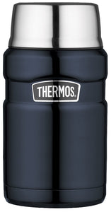 thermos king s/s food jar 710ml mid blue - ZoeKitchen