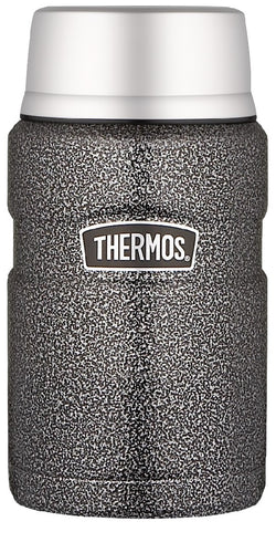 THERMOS KING S/S FOOD JAR 710ML HAMMERTONE