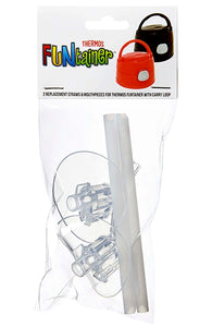 Thermos Funtainer Replacement Mouth Piece & Straws For Bottle With Carry Loop - ZOES Kitchen
