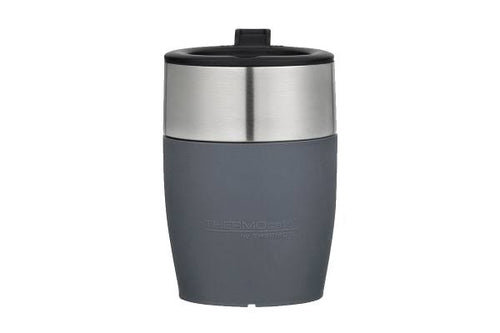 THERMOS THERMOCAFE D/WALL COFFEE CUP S/S 230ML - GREY