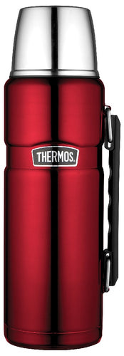 Thermos 1.2l S/Steel King Vacuum Flask Red - ZoeKitchen