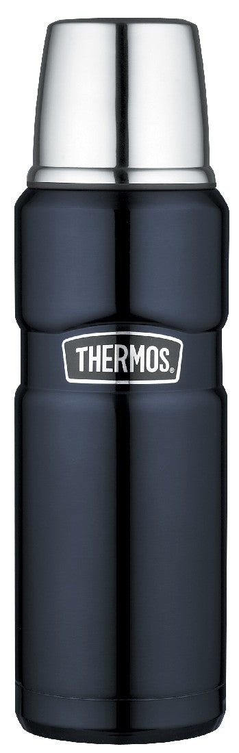 thermos king vacuum flask 470ml blue - ZoeKitchen
