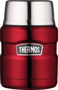 thermos 470ml s/steel king vacuum food jar red - ZoeKitchen