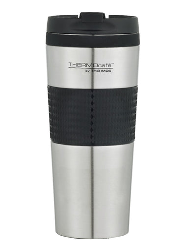 THERMOS THERMOCAFE D/WALL COFFEE CUP S/S 450ML - STAINLESS STEEL