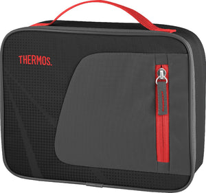 thermos radiance lunch box rectangle black/red - ZoeKitchen
