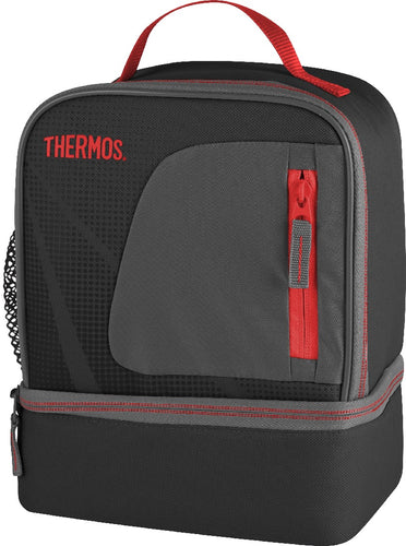 Thermos Radiance Dual Lunch Case - Black/Red - ZOES Kitchen