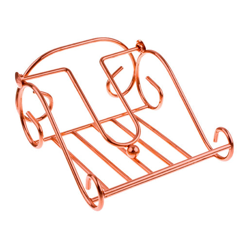 Dline Scroll Napkin Holder Rose Gold - ZoeKitchen