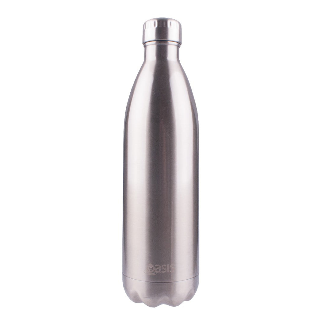 Oasis Insulated Drink Bottle 1l - Silver - ZoeKitchen