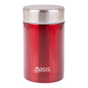oasis insulated food flask 450ml - red - ZoeKitchen