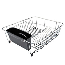 Load image into Gallery viewer, Dline Dish Drainer lg Black W/Caddy 44.5 X 35.5 X 14.5cm - ZOES Kitchen