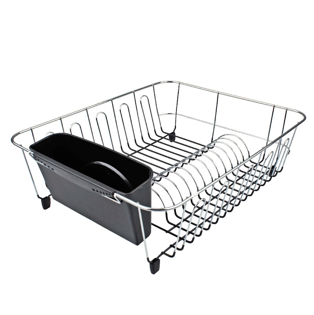 Dline Dish Drainer lg Black W/Caddy 44.5 X 35.5 X 14.5cm - ZOES Kitchen
