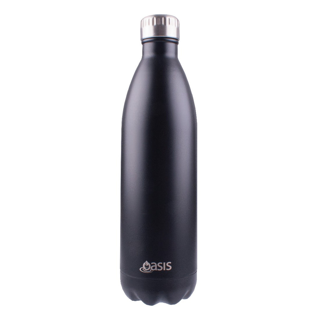 Oasis Insulated Drink Bottle 1l - Matte Black - ZoeKitchen