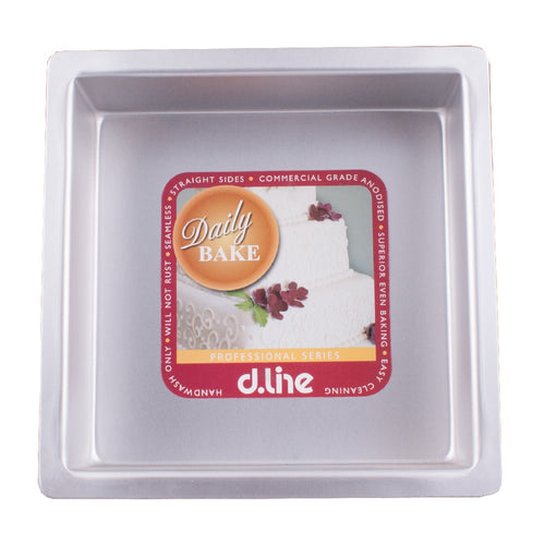 DLINE ANODISED CAKE PAN SQUARE 10CM/4