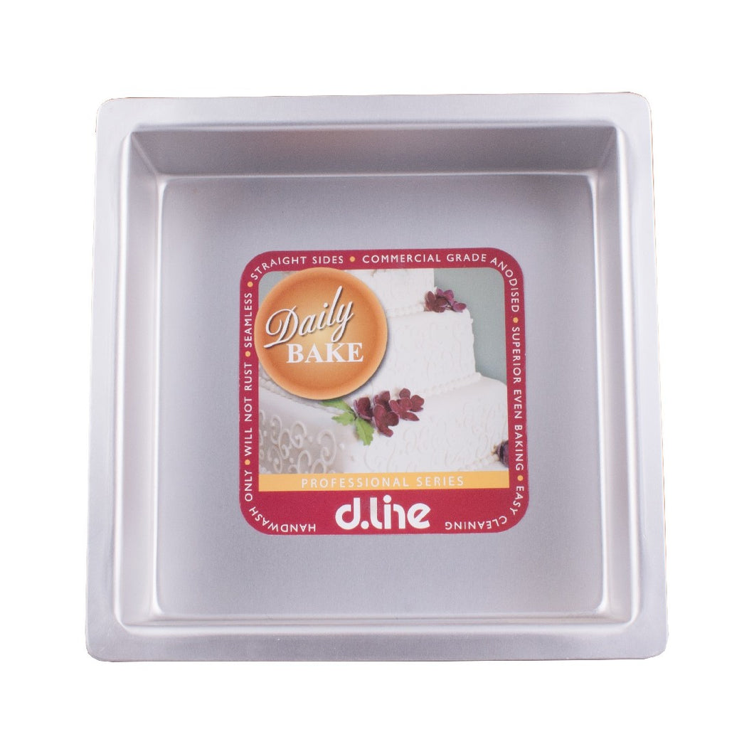 Dline Anodised Cake Pan Square 22.5cm/9 - ZOES Kitchen
