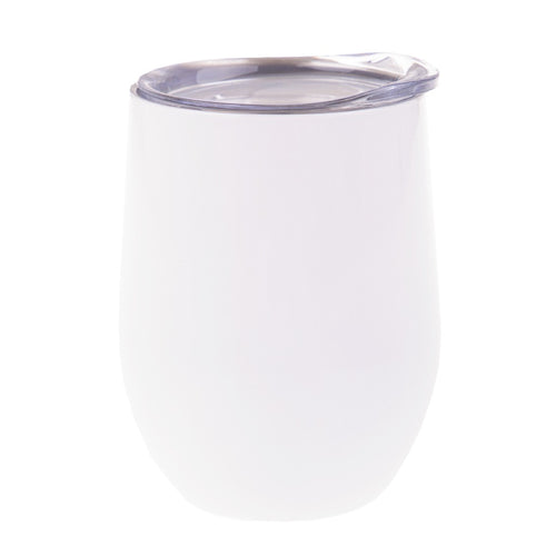 Oasis S/S Double Wall Ins. Wine Tumbler 330ml - White - ZoeKitchen