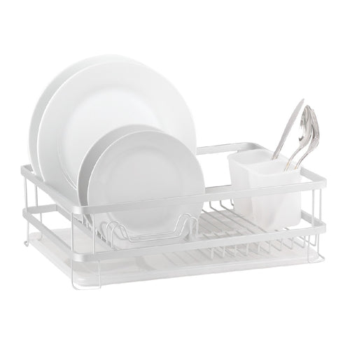DLINE ALUMINIUM DISH RACK WITH DRAINING TRAY - ZoeKitchen
