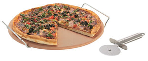 Avanti Pizza Stone W Rack/Cutter 33cm - ZOES Kitchen