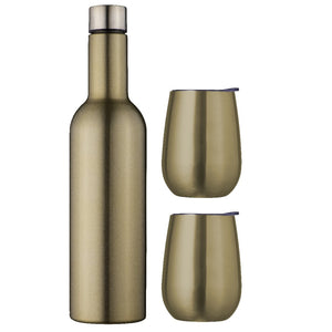 Avanti Double Wall Wine Traveller Set - Champagne - ZOES Kitchen