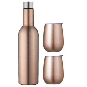 Avanti Double Wall Wine Traveller Set - Rose Gold - ZOES Kitchen
