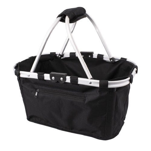 Karlstert Two Handle Foldable Carry Basket- Black - ZOES Kitchen