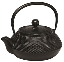 Load image into Gallery viewer, Avanti Hobnall Cast Iron Teapot 800ml Black - ZoeKitchen