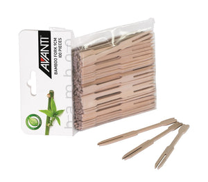 Avanti Bamboo Fork 9cm 100pc - ZOES Kitchen