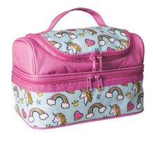 Load image into Gallery viewer, Avanti Yum Yum Double Decker Lunch Bag - Unicorn Pink/Multi - ZoeKitchen