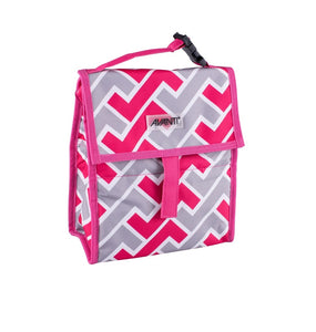 Avanti Yum Yum Lunch Cooler Bag - Maze Pink/Grey - ZOES Kitchen