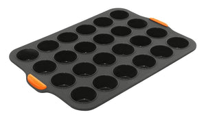 Bake Master Silicone 24 Cup Mini Muffin Pan - ZOES Kitchen