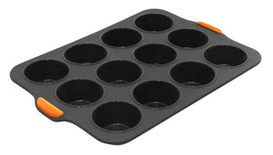 Bake Master Silicone 12 Cup Muffin Pan 35.5 x 24.5cm - ZOES Kitchen