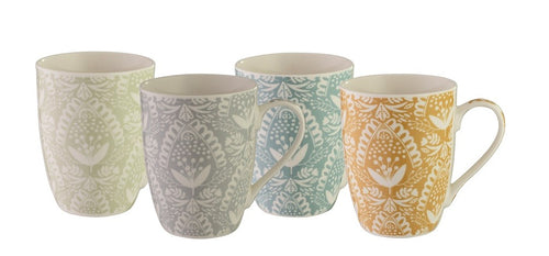 Bundanoon Coupe Mug - Lace Set Of 4 - ZOES Kitchen
