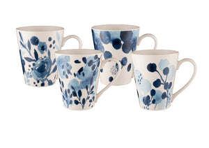 Bundanoon Conical Mug Set 4 Saph Bloom - ZOES Kitchen