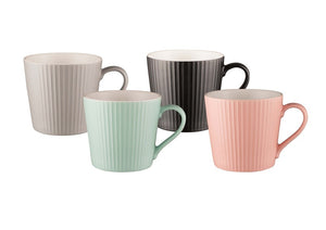 Bundanoon Mod Mug Set Of 4-Ribbed - ZOES Kitchen