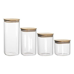 Ecology Pantry Square Canisters Set 4 - ZOES Kitchen