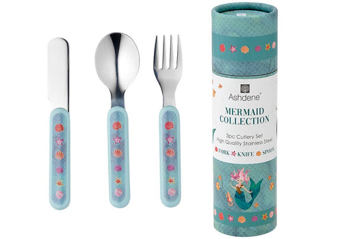 ashdene childrens cutlery set 3 piece - mermaids - ZoeKitchen