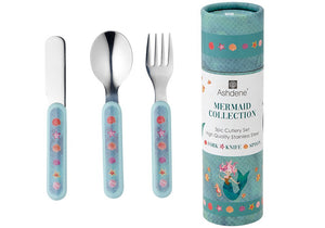 ASHDENE CHILDRENS CUTLERY SET 3 PIECE - MERMAIDS
