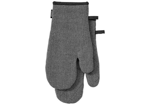 Ladelle Eco Recycled 2pc Oven Mitt Charcoal - ZoeKitchen