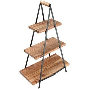 Ladelle Serve & Share Acacia Serving Tower 3 Tier - ZOES Kitchen