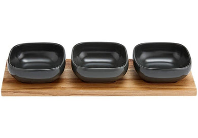 Ladelle Essentials Charcoal 4pce Bowl Set - ZOES Kitchen