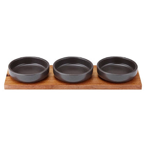 Ladelle Host Charcoal Bowl & Tray Set - ZoeKitchen